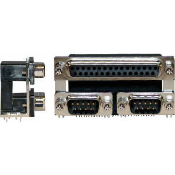D-SUB P.C.B Triple port Right Angle Connectors