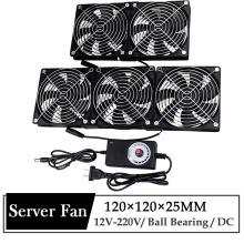 Gdstime 120mm DC 12V 220V Fan Mining Computer Chassis Workstation Radiator 12cm 120mmx25mm High Speed Router Server Cooling Fan