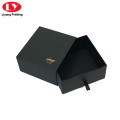 Black Paper Belt Box with Logo Stamping