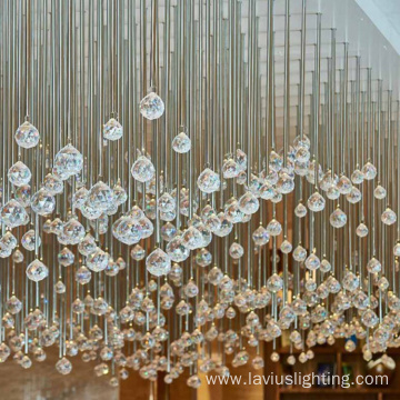 Auditorium crystal ball chandelier lamp