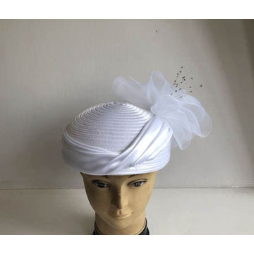 Women's Satin Ribbon Fancy Pill-box Hats-YJ84