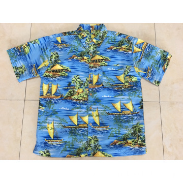Men Hawaiian Beach Shirt