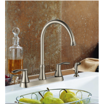 two handle kitchen faucet wside sprayer