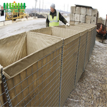 Sand wall hesco barrier Hesco sand bags