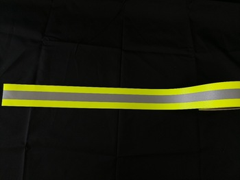 EN469 Aramid Flame Reflective  Yellow/Orange Warning Tape
