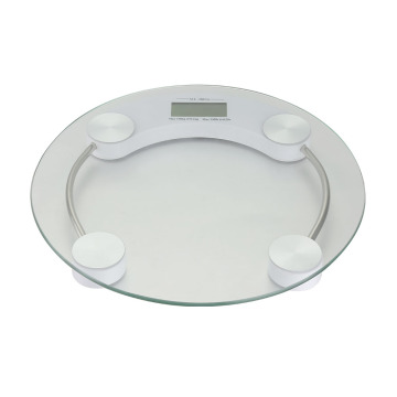 LCD Display Tempered Glass Body Weight Bathroom Scale
