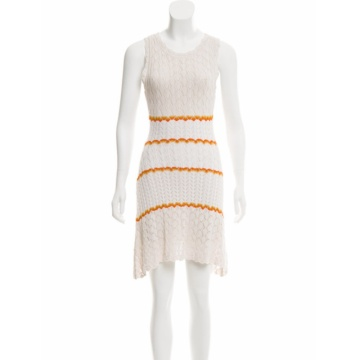 Hot Selling Sleeveless Scalloped Crochet  Knit Dress