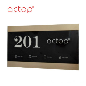 Smart hotel electronic doorplate
