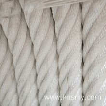 Durable nylon rope sleeve with steel core