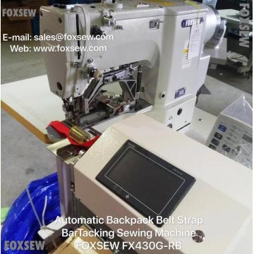 Automatic Backpack Belt Strap BarTacking Sewing Machine