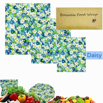 Reusable Beeswax Food Storage Wraps Zero Waste Cling Sandwichs Wrappers Sustainable Bowl Cover Eco Friendly Bees Wax Food Wraps