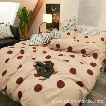 duvet set with printed designs