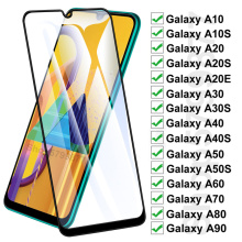 100D Protection Glass For Samsung Galaxy A10 A20 A30 A40 A50 A60 A70 A80 A90 A20E A30S A50S Tempered Glass Screen Protector Film