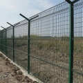 curved welded wire bridge fence