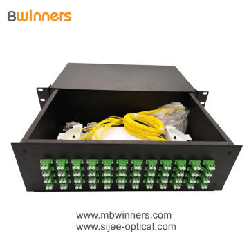 3U 96 Cores LC Duplex Fiber Optic Termination Box Patch Panel