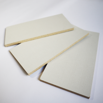 decorative board laminated with melamine-impregnated paper