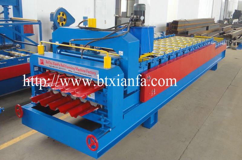 Corrugated Cold Rolled Steel Tile Roll Forming Machine