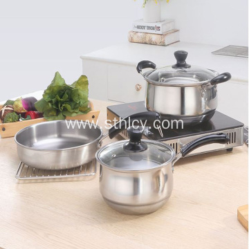 Stainless Steel Kitchen Cooker Set of Three