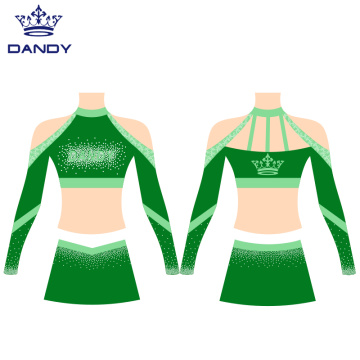 Off Shoulder Cheer Crop Tops