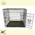 Portable Folding Black Pet Dog Cage With Handle