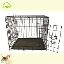 Two Doors Black Folding Dog Cage