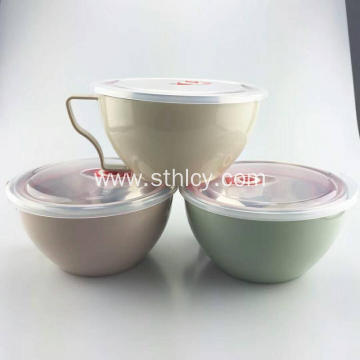 Stainless Steel Bowl for Noodles with Lid