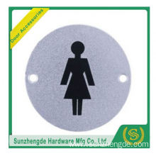 BTB SSP-002SS Adhesive Safety Toilet Door Signs Plate