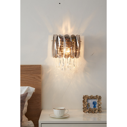 Modern Latest Customized Indoor Decoration Crystal Wall Lamp