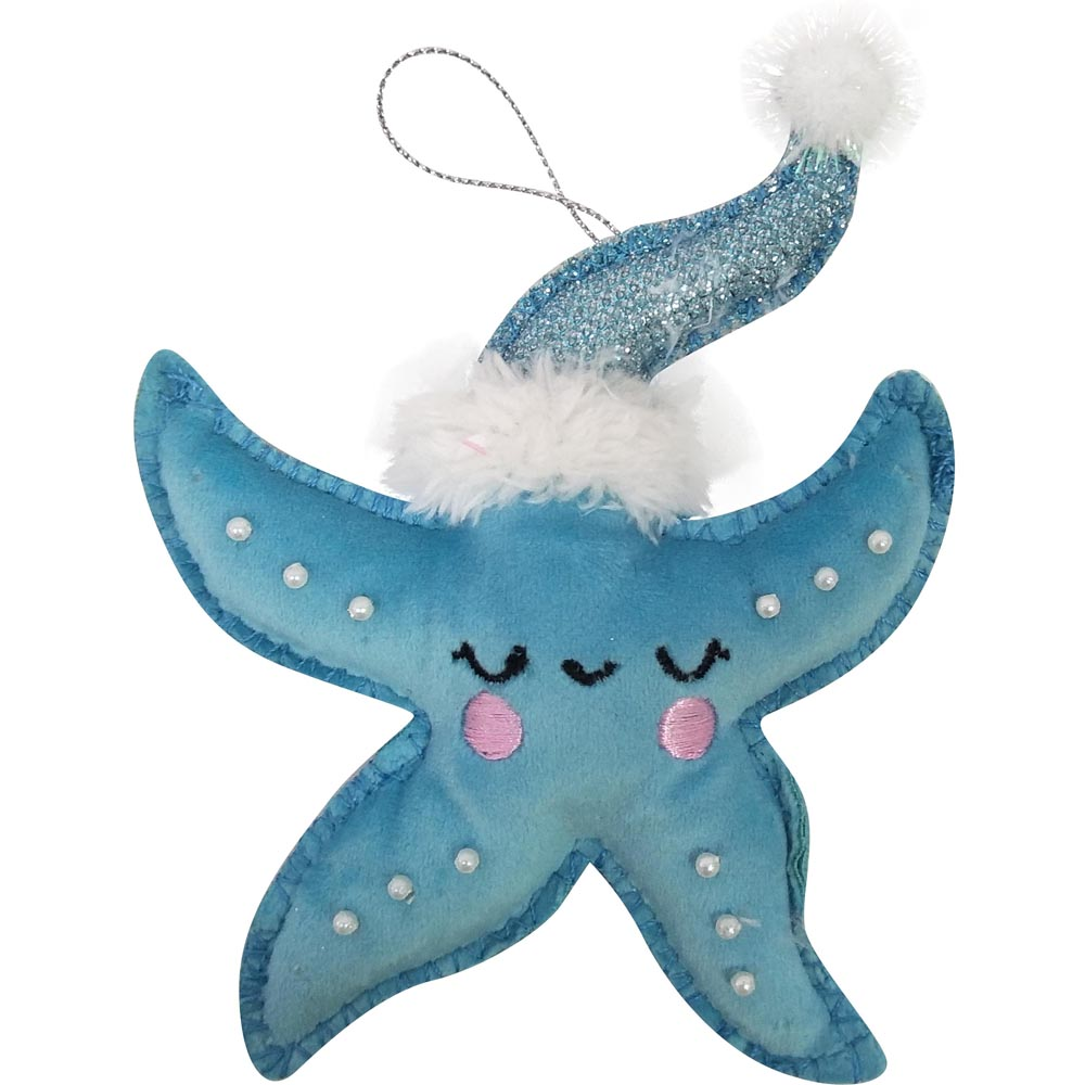 3d Starfish Christmas Hanging Ornaments