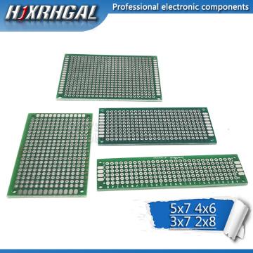 4pcs 5x7 4x6 3x7 2x8 cm 5*7 4*6 3*7 2*8 double Side Copper prototype pcb Universal Board for Ardui hjxrhgal