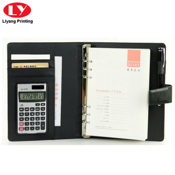 Business wordpad notebook with closure button