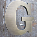 Decor Bronze Metal Letters Signs