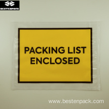 Packing List Envelope 5.5x7 inches Full Printed Yellow