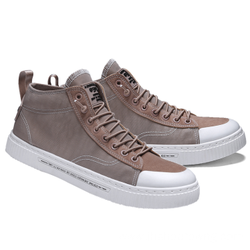 High top polyester mesh fabric casual men shoes