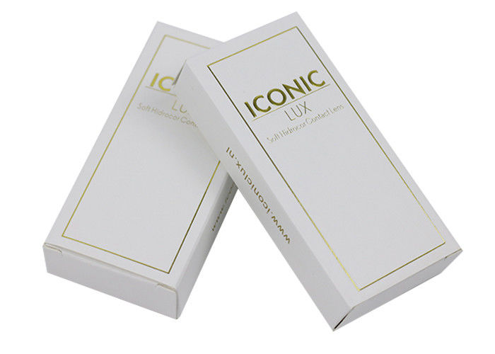New Design Gold Logo Card Coated Paper Box