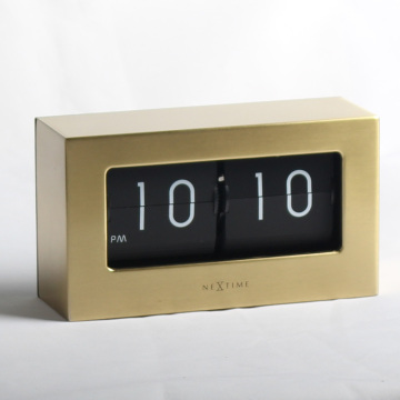 Retro Golden Medium Flip Clocks Golden