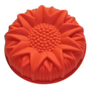 Sunflower shaped silicone cake mold