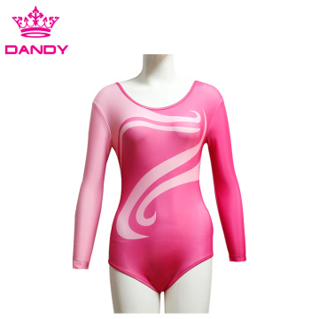 Long Sleeve Custom Childrens Leotard For Practice