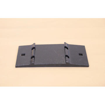 Cast iron rail tie plate
