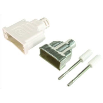 Black / white DVI Tin plate Connector
