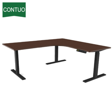 L Shaped Table Standing Desk Electric Height Adjustable