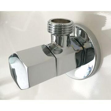 Silver Chrome Color Brass Angle Valve 1/2 Inch