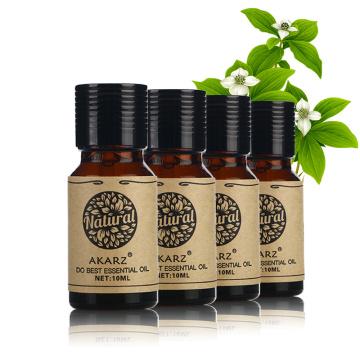 AKARZ Famous brand Sandalwood Lemon Grass Almond Mandarin essential oil Pack For Aromatherapy, Massage,Spa, Bath 10ml*4