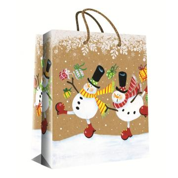 CHRISTMAS SERIES KRAFT GIFTBAG35-0