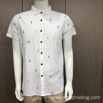 Fashion 100% cotton short sleeve shirt