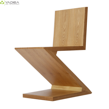 Rietveld natural wood zig zag chair