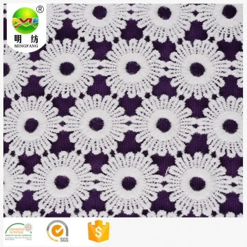 Chemical embroidery lace fabric from keqiao shaoxing