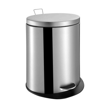 Oval Shape Stainless Steel Trash Bin