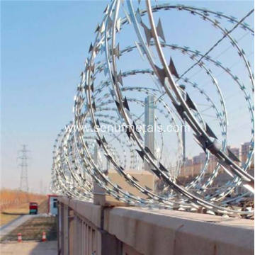 cross type barbed razor wire