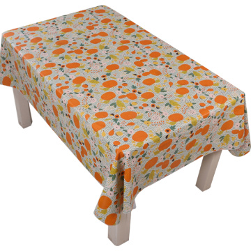 Tablecloth PE with Needle-punched Cotton Pumpkin design
